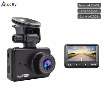 Accfly Araba dashcam dash kamera kamera DVR Dvr'ler araç registrator Video Kaydedici Novatek 96658 Sony IMX323 full hd 1080 p 170 derece 31811