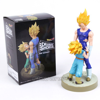 Dragon Ball Z Dramatik Vitrin 4th sezon Süper Saiyan Vegeta ve Gotenks Şekil Koleksiyon Model Oyuncak 21 cm 33108