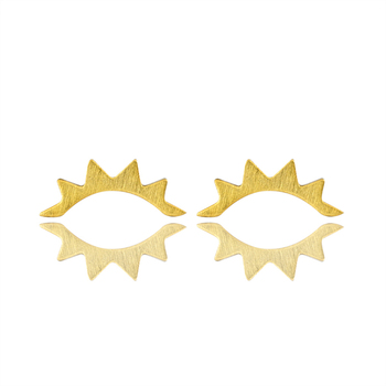 New Fashion Lashes Out Gold Color Stainless Steel Eyelash Ear Climber Earrings For Women Jewelry Birthday gift 23633