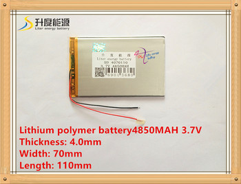 Tablet pc 3.7 V 4070110 4850 mAH (polimer lityum iyon pil) tablet pc için Li-Ion pil 8 inç 9 inç 8262